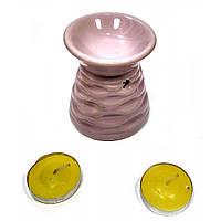 Аромалампа керамическая набор сиреневая подарочный набор 13х8х7,5см  (32025C)