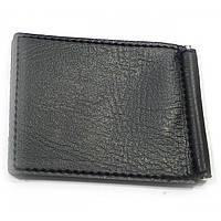 Зажим для денег бумажник металл-кожа 11х8,5х0,5см  (32128)