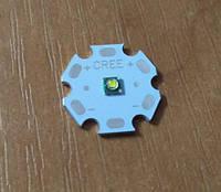 Cree XP-E  6000К светодиод белый на подложке звезда 20мм