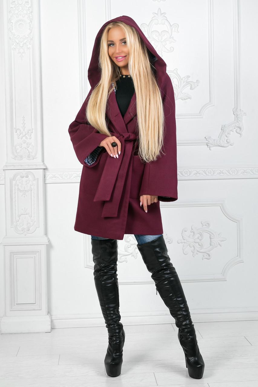 Женское пальто с капюшоном ап9009