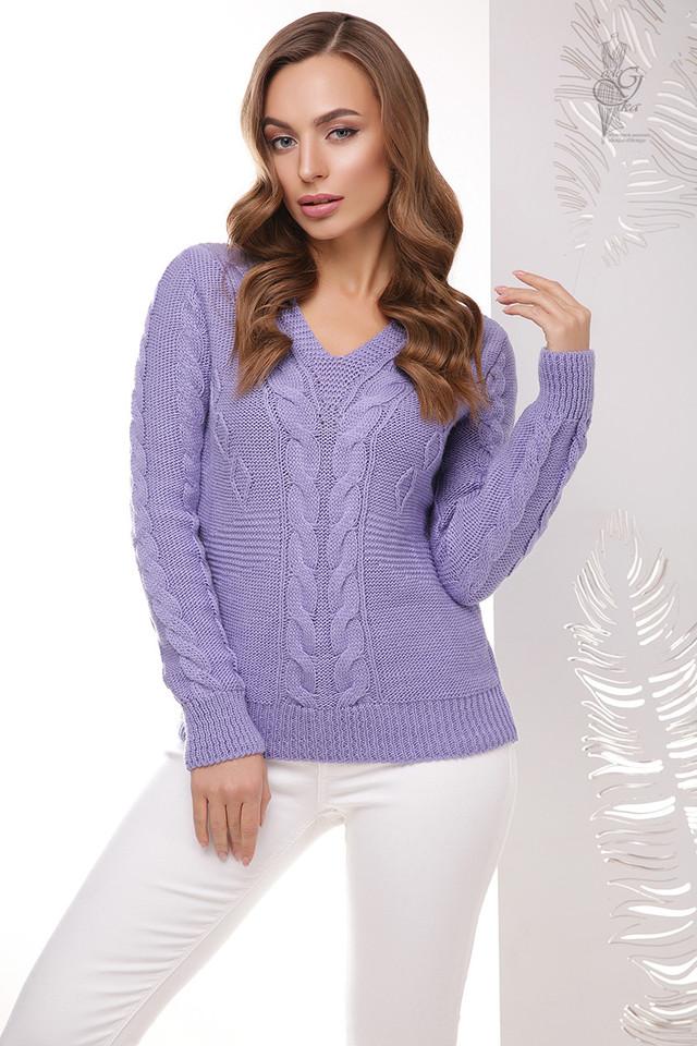 Цвет фиалка Красивых женских свитеров Цветана-11