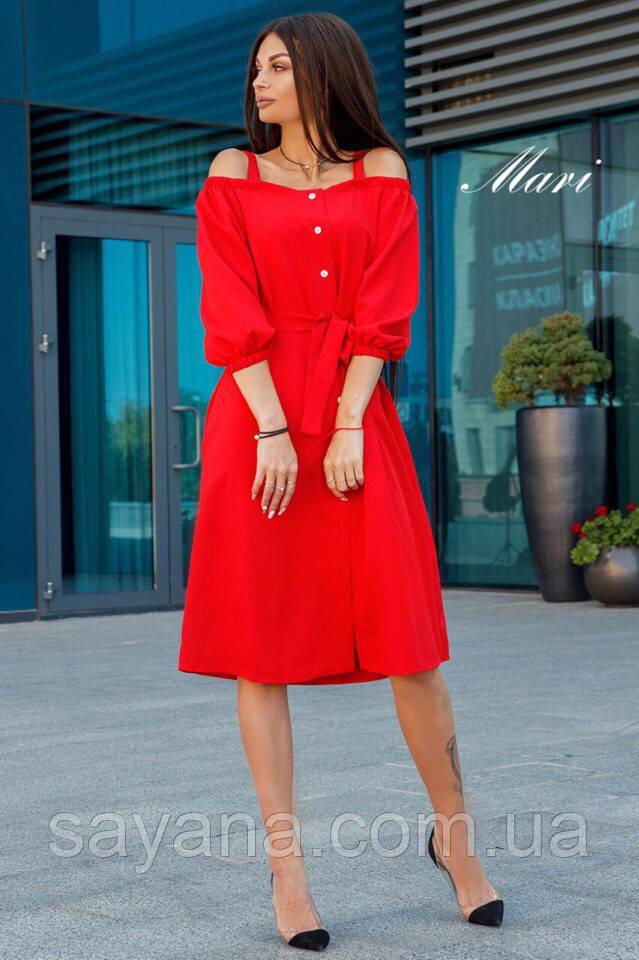 7e1d1879601 Женское платье интересного кроя в расцветках. К-5-0918