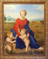 Рафаэль Санти, копия, 120х150 х. м. Копия картины Рафаэля Санти 1506г, «Мадонна в зелени»