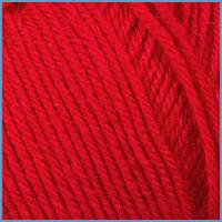Пряжа для вязания Valencia Jasmin, 50% шерсть, 50% акрил, 210 цвет красный