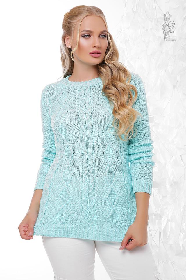 Цвет мята Женского свитера ботала Фая