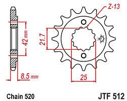 Звезда передняя JT JTF512.16