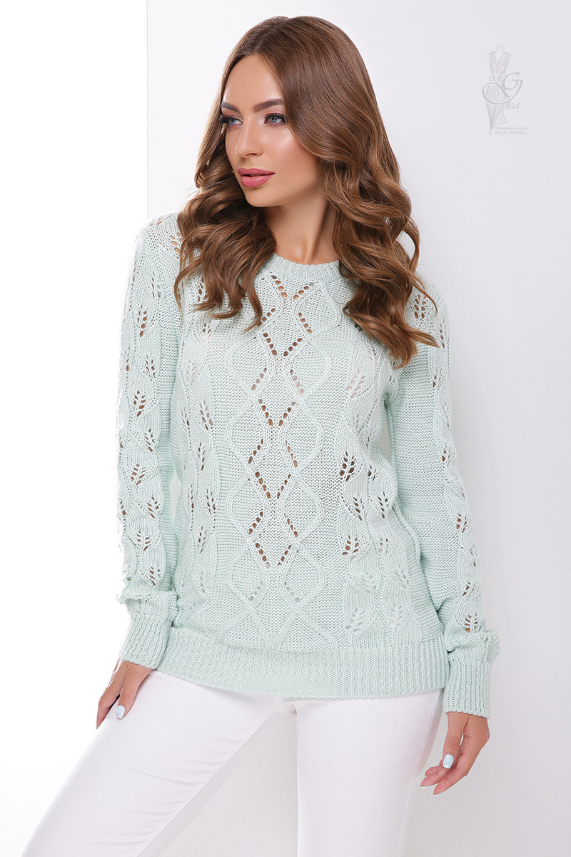 Вязаный женский свитер Лиза из шерсти и акрила