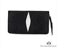 Мужской кошелек из кожи СКАТА, Mosart Custini 2880 (black)