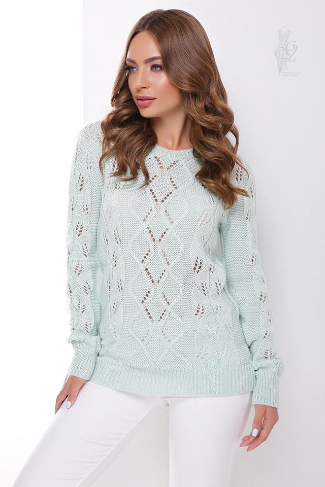 Фото Вязаного женского свитера Лиза