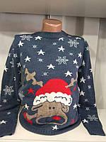 Женский новогодний свитер с пьяным оленем р. 44-50 Турция