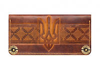 Кожаный кошелек Ukraine Патриотический дизайн Четыре великолепных цвета Качественный принт Код: КГ5957, фото 1