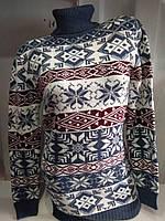 Женская новогодняя туника с геометрическими узорами р. 46-52 Турция