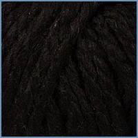 Пряжа толстая для вязания Valencia Mango,24% шерсти,4% кашемира,72% акрила,4203 цвет черный
