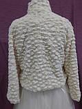 Свадебная шубка из искусственного меха под барашка шампань (бежевый) размер 48- 52, фото 2