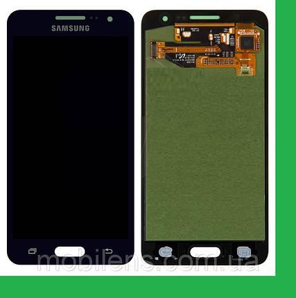 Samsung A300, A300F,A300FU, Galaxy A3 Дисплей+тачскрин(сенсор) темно-синий, фото 2