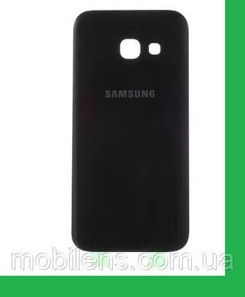 Samsung A320, A320F, Galaxy A3 (2017) Задняя крышка черная , фото 2