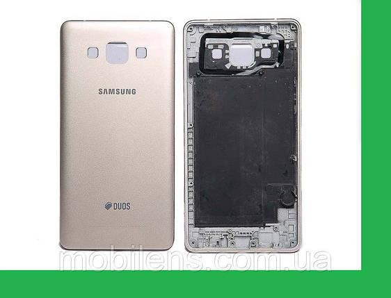 Samsung A500, A500F, A500H, Galaxy A5 Задняя крышка золотистая, фото 2