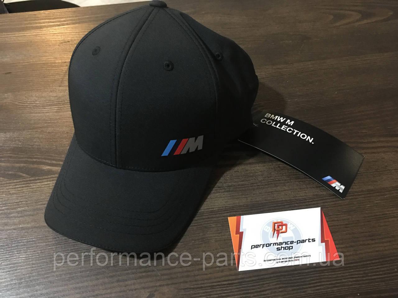 Кепка BMW Logo Cap M, 80162454739 мужская. Оригинал. Черного цвета.