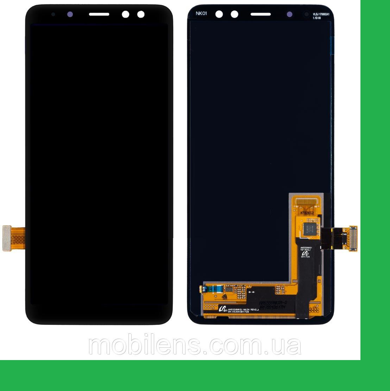 Samsung A530, A530F Galaxy A8 (2018) Дисплей+тачскрин(сенсор) черный
