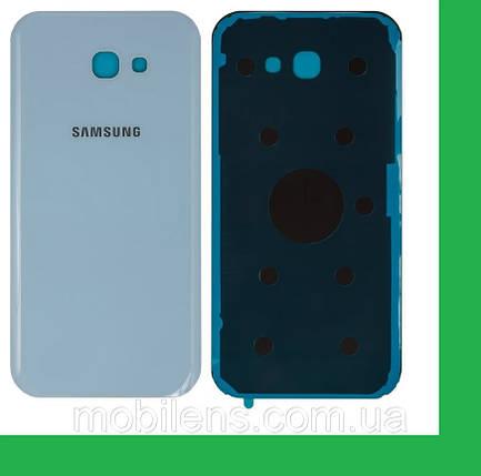 Samsung A720, A720F Galaxy A7 (2017) Задняя крышка голубая, фото 2