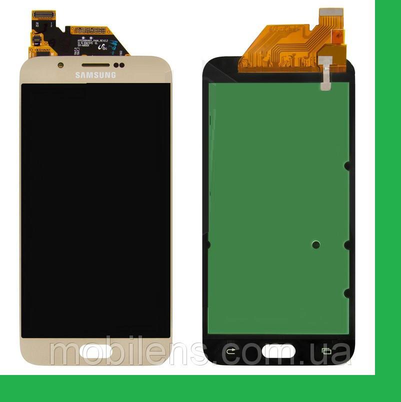 Samsung A800, A800F Dual Galaxy A8 Дисплей+тачскрин(сенсор) золотистый