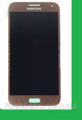 Samsung E500, E500H, Galaxy E5 Дисплей+тачскрин(сенсор) бронзовый (коричневый)