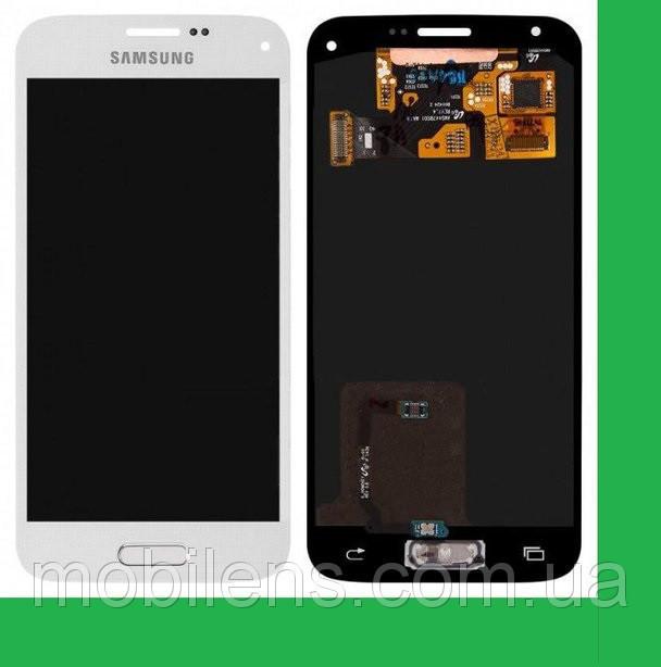 Samsung G800, G800H, Galaxy S5 mini Дисплей+тачскрин(сенсор) белый