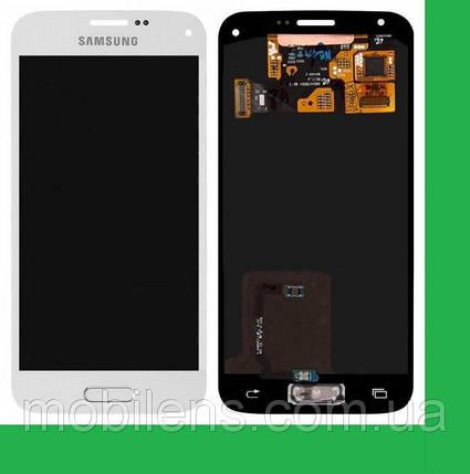 Samsung G800, G800H, Galaxy S5 mini Дисплей+тачскрин(сенсор) белый, фото 2