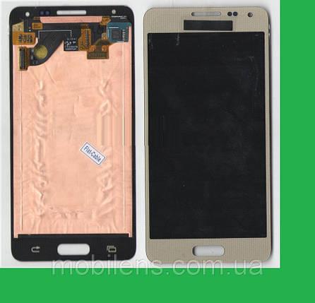 Samsung G850, G850F, Galaxy Alpha Дисплей+тачскрин(сенсор) золотистый, фото 2