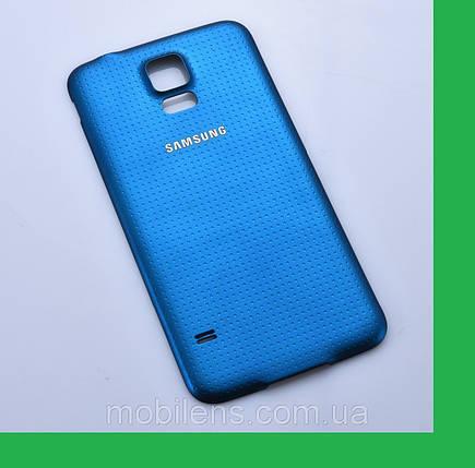Samsung G900, G900A,G900H,G900F, Galaxy S5 Задняя крышка синяя, фото 2