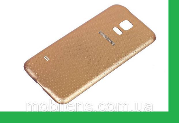 Samsung G900, G900A,G900H,G900F, Galaxy S5 Задняя крышка золотистая, фото 2