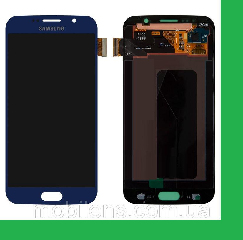 Samsung G920, G920F, Galaxy S6 Дисплей+тачскрин(сенсор) темно-синий