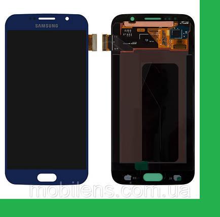 Samsung G920, G920F, Galaxy S6 Дисплей+тачскрин(сенсор) темно-синий, фото 2