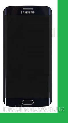 Samsung G925, G925F, Galaxy S6 Edge Дисплей+тачскрин(сенсор) в рамке темно-синий, фото 2