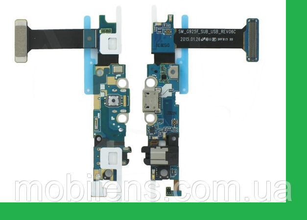 Samsung G925, G925F, Galaxy S6 Edge Шлейф с разъемом зарядки