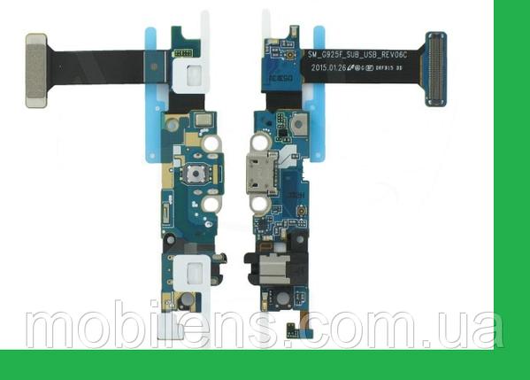 Samsung G925, G925F, Galaxy S6 Edge Шлейф с разъемом зарядки, фото 2