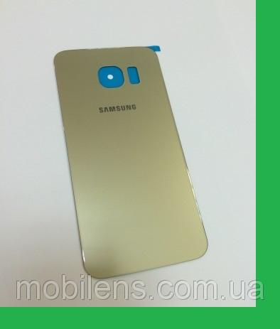Samsung G925, G925F, Galaxy S6 Edge Задняя крышка золотистая