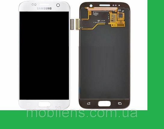 Samsung G930, G930F, Galaxy S7 Дисплей+тачскрин(сенсор) белый, фото 2