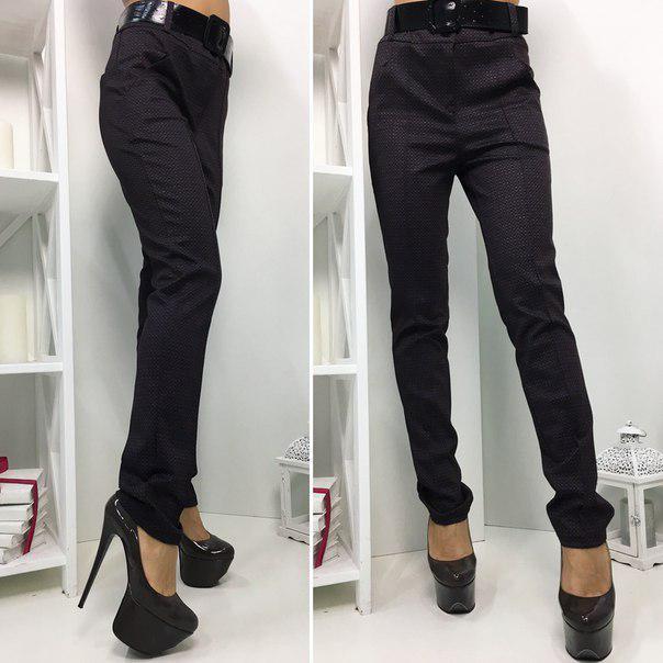 """Узкие женские брюки """"Bristol"""" с поясом и карманами"""