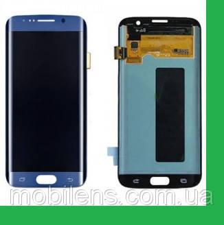 Samsung G935, G935F, G935FD Galaxy S7 Edge Дисплей+тачскрин(сенсор) синий , фото 2