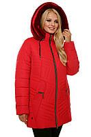 """Зимняя женская куртка с мехом """"Красный"""""""