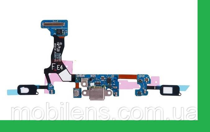 Samsung G935, G935F, G935FD Galaxy S7 Edge Шлейф с разъемом зарядки и микрофоном, фото 2
