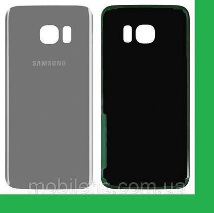 Samsung G935, G935F, G935FD Galaxy S7 Edge Задняя крышка серебристая, фото 2