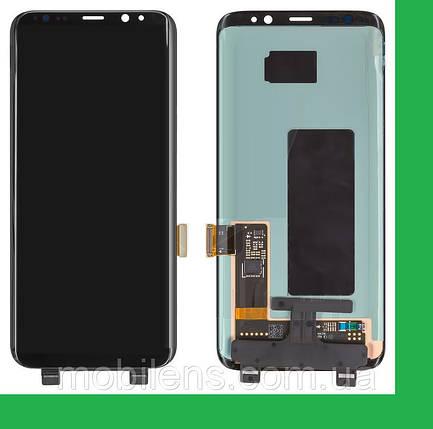 Samsung G950, Galaxy S8 Дисплей+тачскрин(сенсор) черный, фото 2