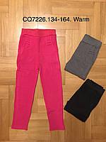 Лосины на меху для девочек оптом, CQ, 134-164 рр., фото 1