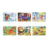 Пазлы 54 эл., MINI Любимые мультфильм , 32шт в блоке, 12 блоков в упаковке, 384 шт
