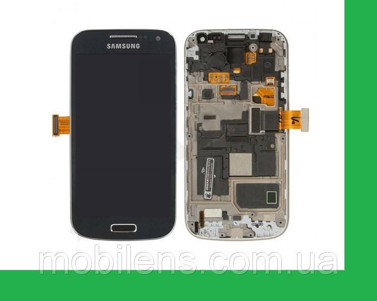 Samsung i9190, i9192, i9195 Galaxy S4 mini Дисплей+тачскрин(сенсор) в рамке темно-синий
