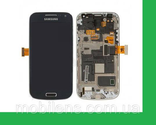 Samsung i9190, i9192, i9195 Galaxy S4 mini Дисплей+тачскрин(сенсор) в рамке темно-синий, фото 2
