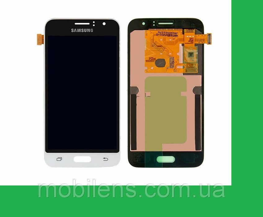 Samsung J120, J120H Galaxy J1 (2016) Дисплей+тачскрин(сенсор) белый