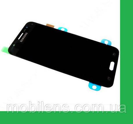 Samsung J200, J200F, J200G, J200H, Galaxy J2 Дисплей+тачскрин(сенсор) черный, фото 2